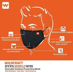 Wildcraft Reusable Face Mask, Number of Layers: 6