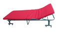 Folding Bed with Mattress - 80 Cm Wide - Tomato Red