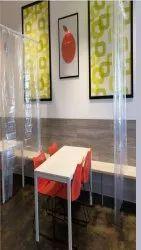 Transparent Plain Virus Resistant Curtain