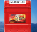 ML45D21LBH Exide Mileage