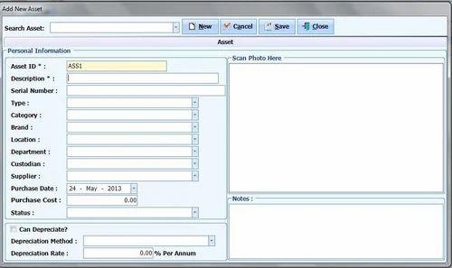 Asset Management System, एसेट मैनेजमेंट