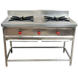Stainless Steel Silver SS Commerical Gas, For Hotel, Burner Material: 2