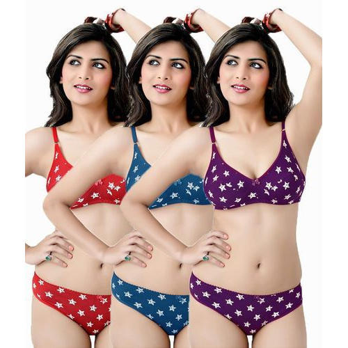 performance sportswear big discount find workmanship Ladies Printed Bra Panty Sets