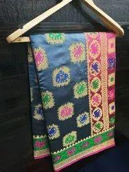 Festive Wear Banarsi Silk Saree, Length: 6.3 m (With Blouse Piece)