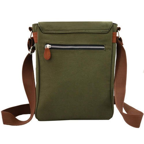 Men Women Military Green Canvas Messenger Sling Bag