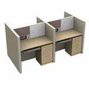 Modular Workstation I Modular Office Furniture Four Seating Back-To-Back Workstation (MRK Furniture)