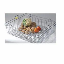 Silver Fruit Vegetable Basket