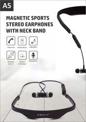 A5 Magnetic Sports Stereo Earphones With Neckband