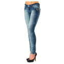 Blue Ladies Faded Jeans, Waist Size: 28 And 32