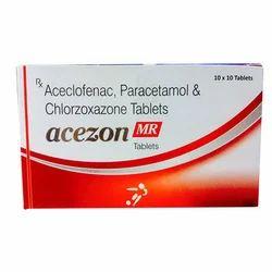 Aceclofenac Paracetamol and Chlorzoxazone Tablets