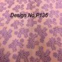 P136 Non woven Metallic Printed Fabric