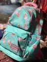 Ladies Sky Blue Printed Backpack