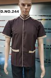Dark Brown Colour Restaurant Uniform