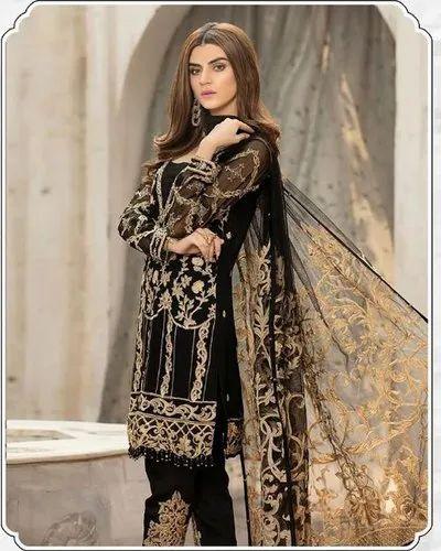78456b8eb6 Multicolor Chiffon Stunning Pakistani Suit, Rs 1199 /piece   ID ...