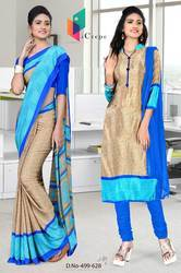 Uniform Saree Salwar combo for hotel