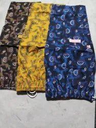 Cotton/Linen Black Men S Three Quarter Pant, Size: Xl