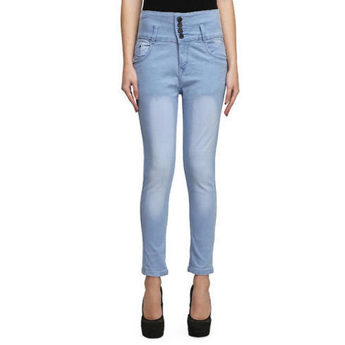 Stretchable Light Blue Womens Super Skinny Jeans 7d8f024758