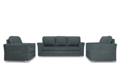 Adorn India Alexia Sofa set 3 1 1(Grey)