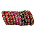 Kundan Silk Thread Bangles