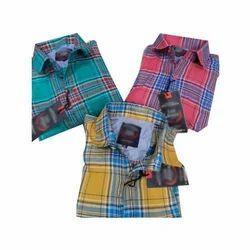 Mens Casual Full Sleeve Check Shirt
