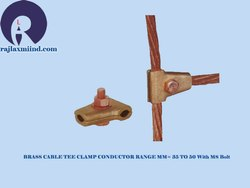 Brass Cable Tee Clamp Conductor Range