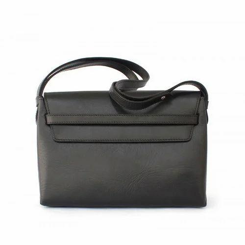 346a8ea5c94b PVC Coated Fabric Ladies Black Plain Sling Bag