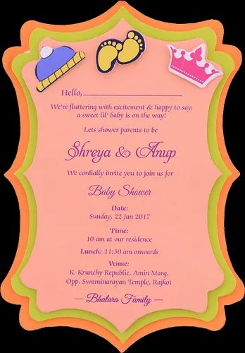Baby Shower Invites Baby Shower Cards Manufacturer From Rajkot