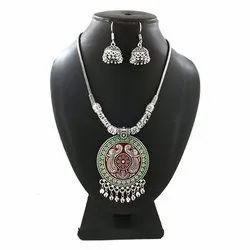 Meena Colorful Pendant Necklace Set