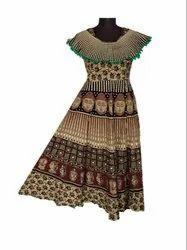 Poncho Pattern Poncho Maxi Cotton Pohocho Jaipuri Women''s Frock, Size: Length 50, Age Group: 15-50