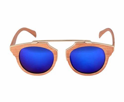 SD Jaxson Male and Female Artificial Wood Clubmaster Sunglasses, Size: Medium (50-13-135)