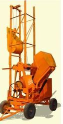 Concrete Mixer Machine with Hopper Lift