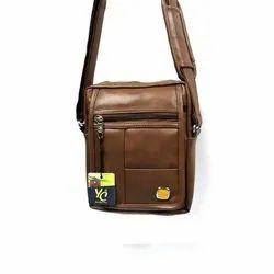 Brown Leather Shoulder Side Bag