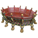 Shiv Cottage Multicolor Wooden Table, For Home