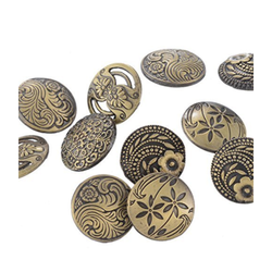 Metallic PS Daima Antique Engraved Buttons
