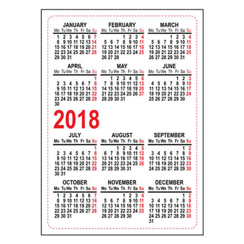 Printed Pocket Calendars