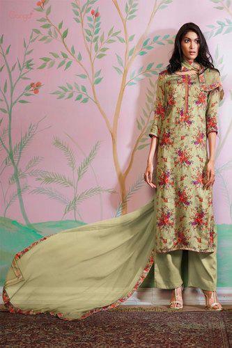 a85760a39f Party Wear Natural Silk Salwar Suit at Rs 1691 /piece | Silk Salwar ...