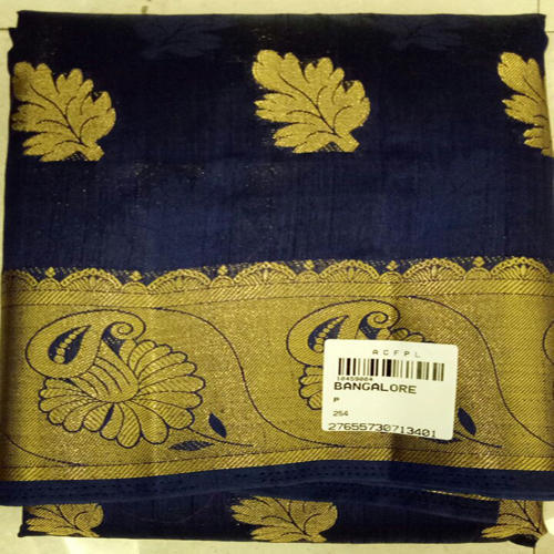 Blue Wedding Wear Silk Saree