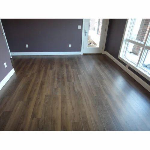 Dark Brown Waterproof Vinyl Plank Flooring Rs 45 Square Feet Samrat Enterprises Id 20244198348