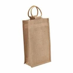Double Bottle Jute Wine Bag