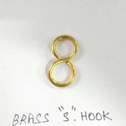 Brass S Hooks, Polished/Coated