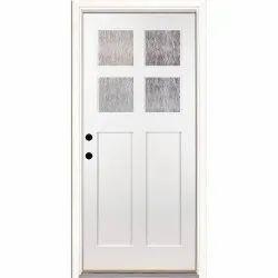 Teak Wood White Primer Door, Thickness: 30 Mm