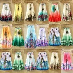 American Crepe Long Fancy Skirt