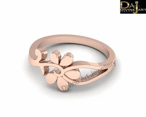 Divine Art Rose Gold Flower Engagement Ring Women Rs 6504 35 Piece Id 19009140862