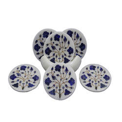 Marble inlay Tea Coaster set