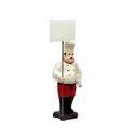 Chef Statue With Menu Board