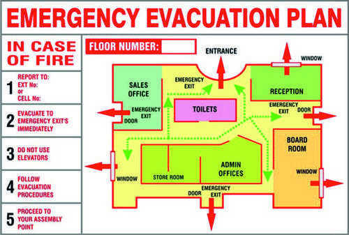 Fire Evacuation Plan Emergency Evacuation Plan