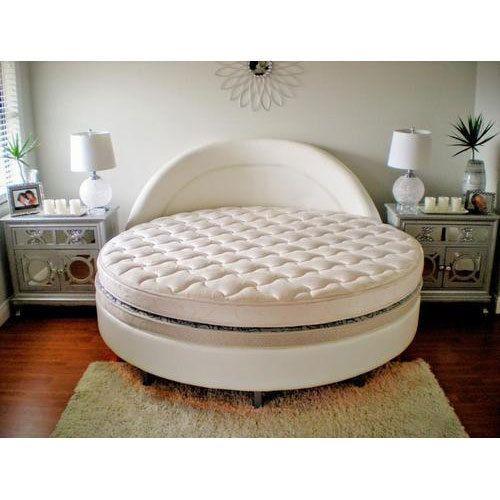 6*4 White Wooden Round Bed