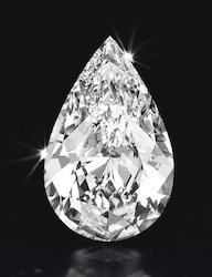 Glimmer's Impex White Pear Cut Diamond, For Luxurious, 1