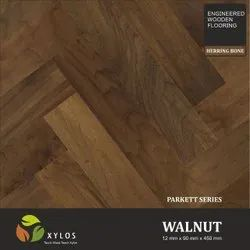Walnut Natural Engineered Herringbone Wooden Flooring