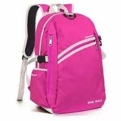 Plain Pink Polyester College Bag